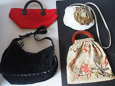 4 AUTHENTIC Handbags~Herve Chapelier Barocco Fringes Embroidery Semiprecious etc