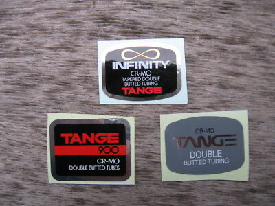 Various Tange Cro Mo Bike Bicycle Frame Tube Decals Stickers Not Remade!!