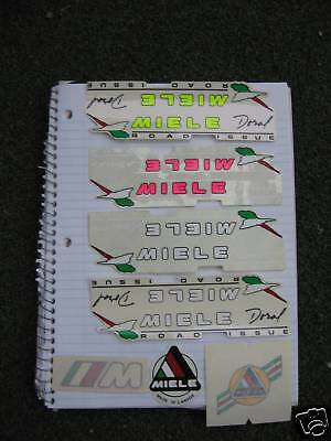 Various Miele Doral Latina & Uno MS Road Issue Bicycle Decals Not Remade!!