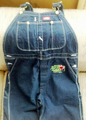 Dickies Denim Overalls NEW Skagit Valley Tulip Festival 1999 Embroidered RARE!!