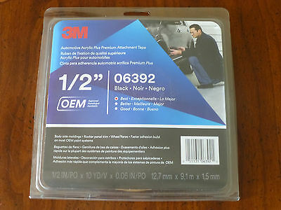3M Acrylic Plus PREMIUM Attachment Tape 06392 1/2 10yd 30ft Better than 06397