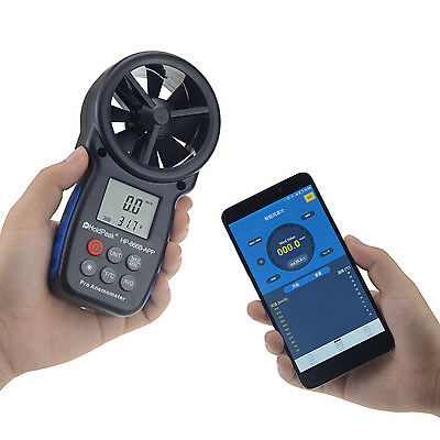 HoldPeak 866B-APP 0.3~30m/s Anemometer Mobile APP Bluetooth Wind Speed Meter