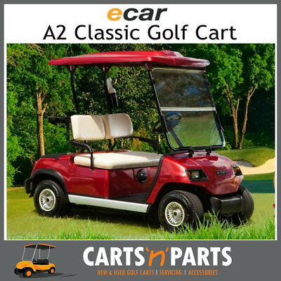 Ecar A2D CLASSIC 2 Seat NEW GOLF CART Buggy Burgundy