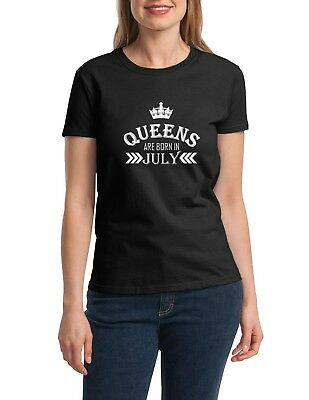 94f44043b Queens Are Born in July Shirt Birthday Gift Bday Girl T-Shirt Mothers Day  Party