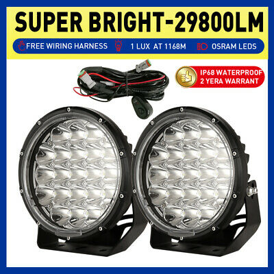 7inch 98000W Cree Round LED Driving Lights Spot Work Offroad Black SUV 4X4 Jeep