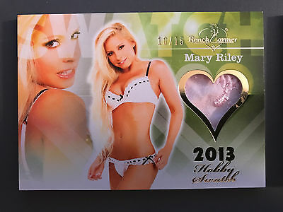 2013 Benchwarmer Mary Riley Lingerie Gold Embroidering Swatch /15