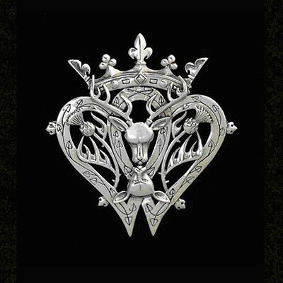 Celtic  Scottish Thistle and Buck Luckenbooth pendant with chain