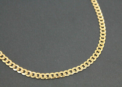 Men's 9K Solid Yellow Gold Curb Link Chain Necklace 17.0 Grams