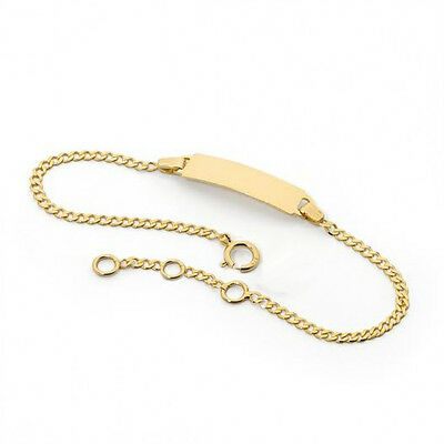 18K Gold Filled Baby ID Bracelet For Boy and Girl Newborn to 12 Years Old