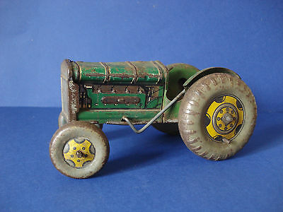 VINTAGE 1950s METTOY TINPLATE TRACTOR