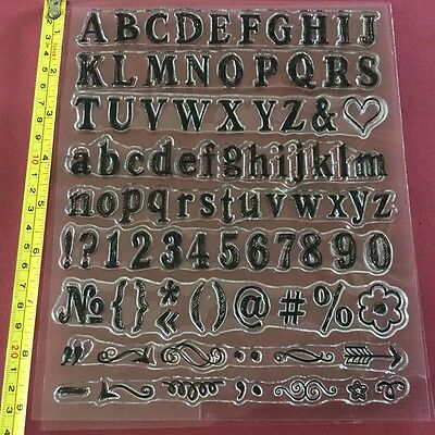 Alphabet and Numbers Stamp Set - 92 Stamps