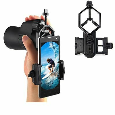 Mount Metal Telescope Adapter Binocular Cell Phone Holder Spotting Scope