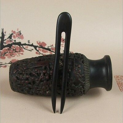 Traditional Carved Ebony Wooden Hair Pin Stick Retro Women Gifts Top