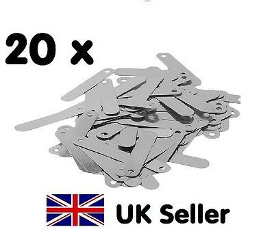 20 x Conductive 2.5 x 0.5cm Solder Tabs for battery etc