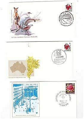 Australia 1972/73 Group of Covers     ( 3 Covers )