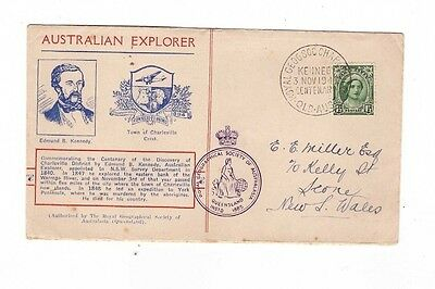 Australia 1948 Royal Geographic Explorer KENNEDY Cover, cds KENNEDY Qld