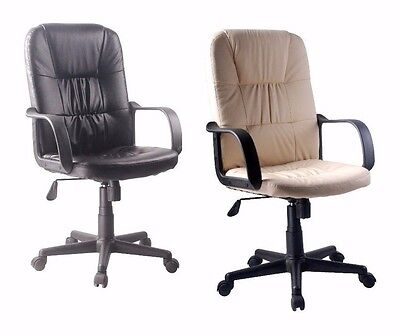 Executive Managers Computer Gaming Swivel Office Desk Chair High Back Furniture