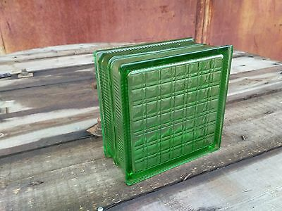 Lot x 30 Vintage Architectural Glass Building Block Bricks Green 30 pcs.