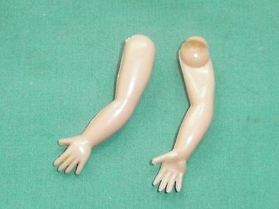 """plastic arms 2 1/3"""" for dollhouse doll lastic fixing/1960s/Germany"""
