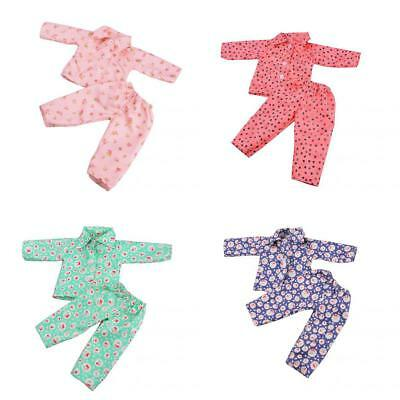 4 Sets of Pajamas Sleepwear for American/Our Generation/Journey Girl 18inch Doll