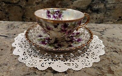 Vintage Royal Sealy China 3-Footed Tea Cup & Saucer Set Made In Japan