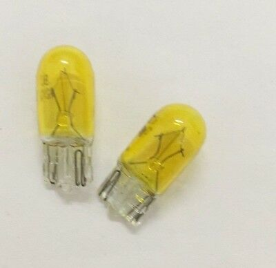 Yellow 501 (T10/W5W) 12v 5w Capless Car Bulbs (Pair)