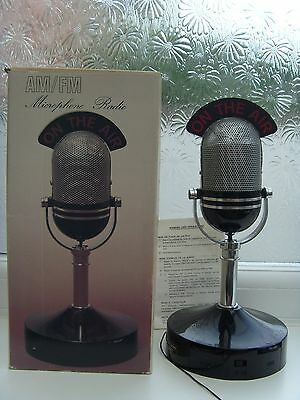 "VINTAGE ON THE AIR RADIO MICROPHONE 11"" 28cm TALL AM FM 1940's STYLE"