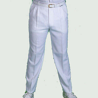 Henselite Gents White Bowls Trousers. Free Postage