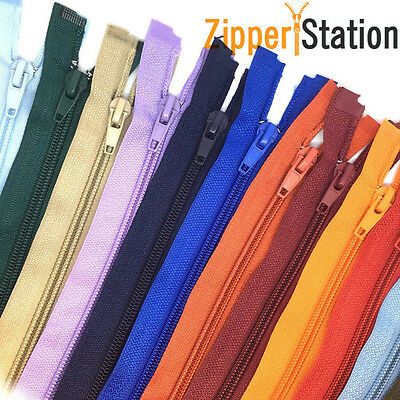 Nylon Open Ended Zips - No 5 Autolock Zipper - 22 Zip Colours (N5OE)
