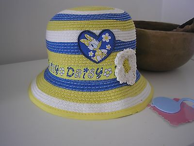New Disney Daisy Duck Sun Hat Age  6 - 12 months old ; away 26th june-5th july