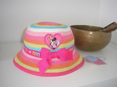 Brand New Baby Girl Disney Minnie Mouse Sun Hat Age  12 - 23   months old  bnwt