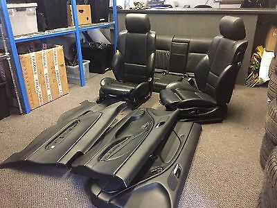 BMW E46 3 series SPORT Black Electric Leather Seats & Door Panels COUPE Interior