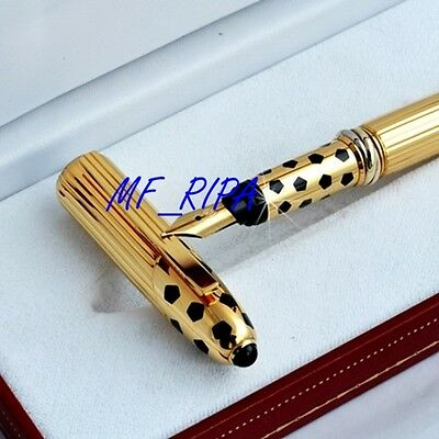 Cartier Panthere Godron Oro Penna Stilografica - Fountain Pen Gold - Never used
