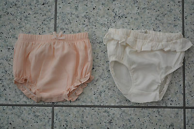 NEW Mamas & Papas M&P 2 X Girls Pants Knickers Nappy Cover 0-3 Months