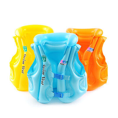 Baby Kid Float Inflatable Swim Vest Life Jacket Swimming Aid For Age 3-6