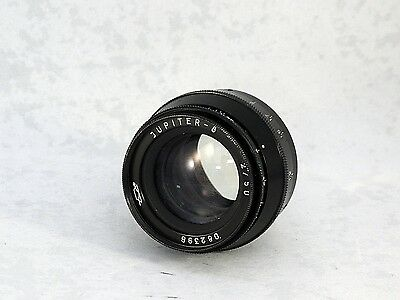 Jupiter-8 50mm F2 Lens in LТМ М39mm Screw Mount - Excellent Condition