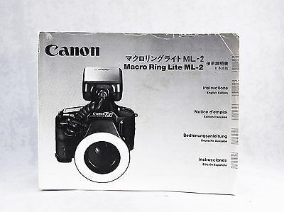 Canon Macro Ring Lite ML-2 Instructions manual user guide