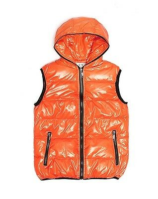 bomber jacket gillet Orange Hooded 3XL Coat Jumper Weather proof  (I20)