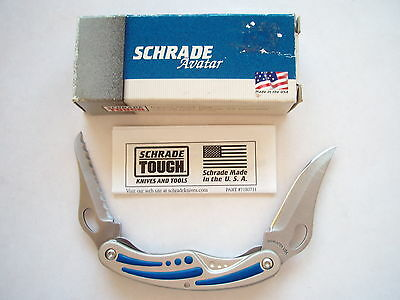 Original Usa Made Schrade Av2  Folding Liner Lock Knife