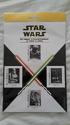 Collector de 4 timbres Star Wars sous blister.Neuf**