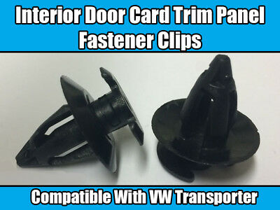 20x Clips For VW Transporter T2 T3 Interior Door Panel Button Trim Grey Plastic