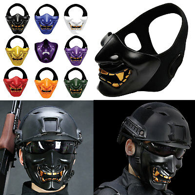 Tactical Airsoft Paintball game Half Face Mask Biker Costume Halloween Cosplay