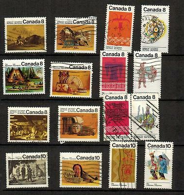 Canada 1970's Stamps collection - Indians of Canada (used) (Lot 170314-01)