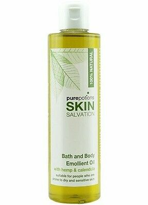 Purepotions Skin Salvation Bath & Body Emollient Oil 200ml 100% Natural Eczema