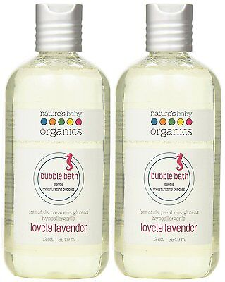 Nature's Baby Organics Moisturizing Bubble Bath, Lovely Lavender, 12 oz. Pack of