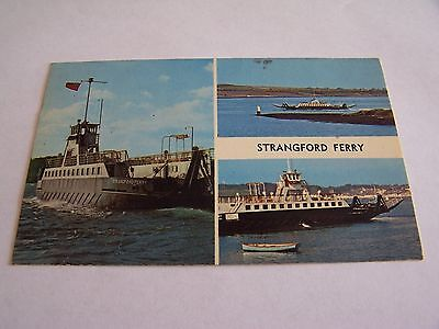 Vintage RP Postcard Strangford Ferry Ards Peninsula Co Down Boat