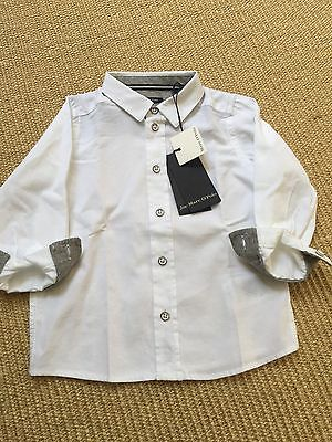 Marco Polo White Shirt Baby Boy 74 (6-9 Months)