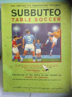 Vintage SUBBUTEO CONTINENTAL CLUB EDITION TABLE SOCCER WITH EXTRAS.