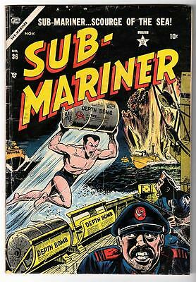 MARVEL TIMELY ATLAS Comics SUB MARINER Namor Golden age #36 1954 VG 4.0