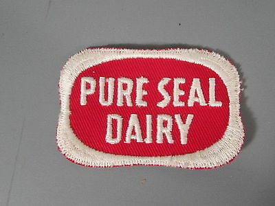 Pure Seal Dairy Patch / New Old Stock of Closed Embroidery Company / FREE Ship